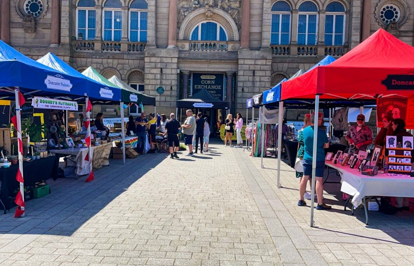 Young Traders at Doncaster Market