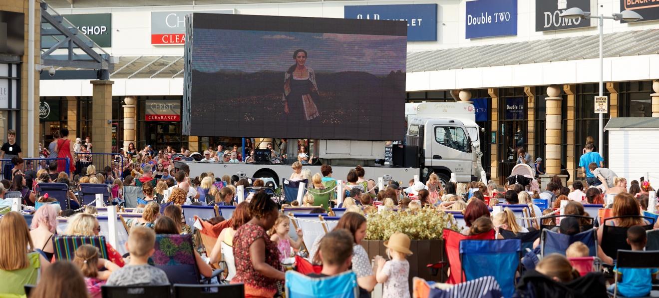 Lakeside outdoor cinema