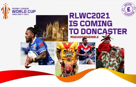 #Doncaster hosts Rugby League World Cup fixtures