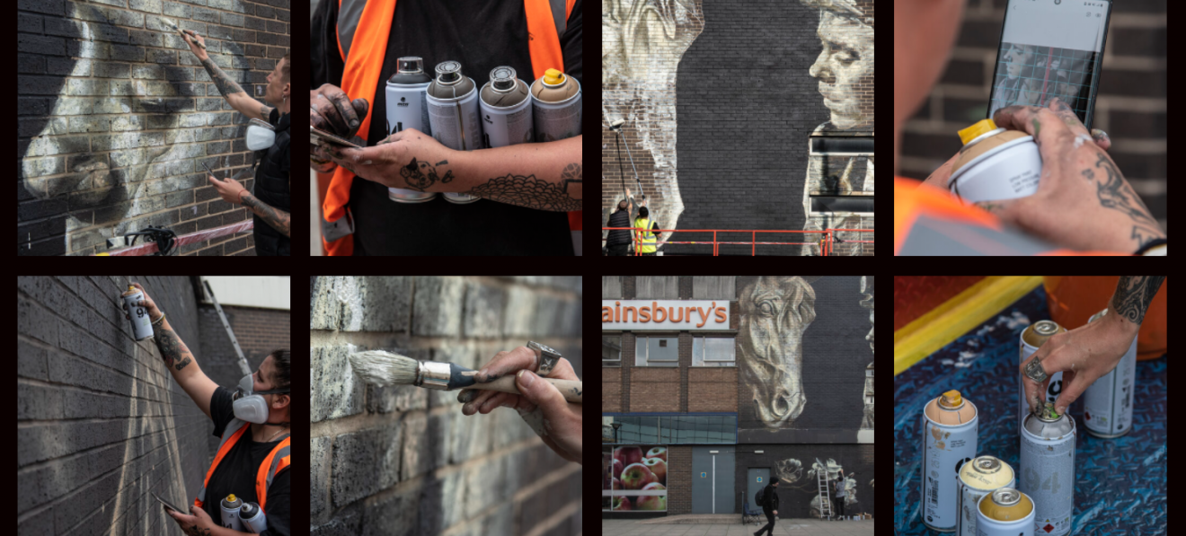 Celebrate the completion of the mural in Doncaster